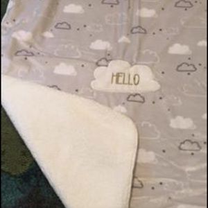 Other - Gray Sherpa baby blanket